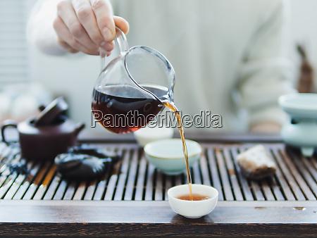 chinesische puerh tee zeremonie