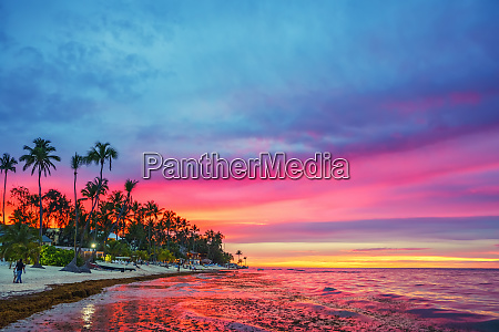 sonnenuntergang sonnenaufgang strand ozean dominikanische rebublic