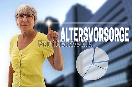 altersvorsorge in deutscher altersvorsorge touchscreen wird
