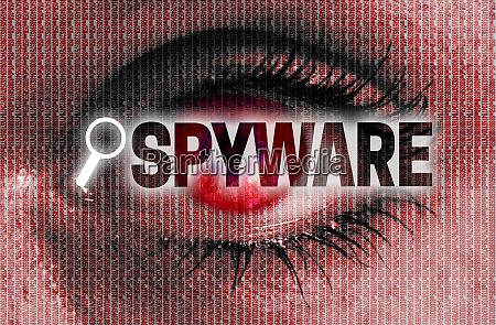 spyware auge betrachtet das viewer konzept