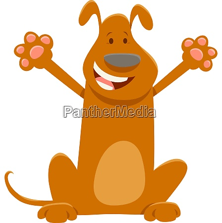 brown dog cartoon animal character