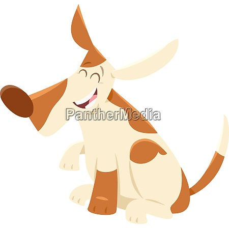 happy spotted dog cartoon animal character