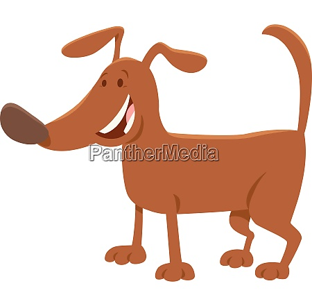 funny brown dog cartoon animal character