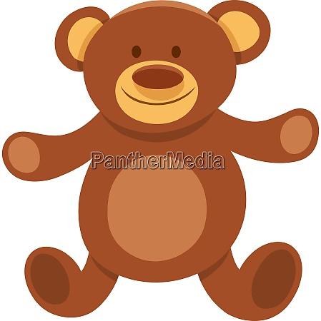 plush teddy bear cartoon character