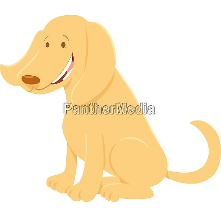 glückliche, beige, hundecartoon-tierfigur - 26587152