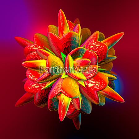 abstrakte, bunte, faraktal, bilder, 3d, rendering - 26589338