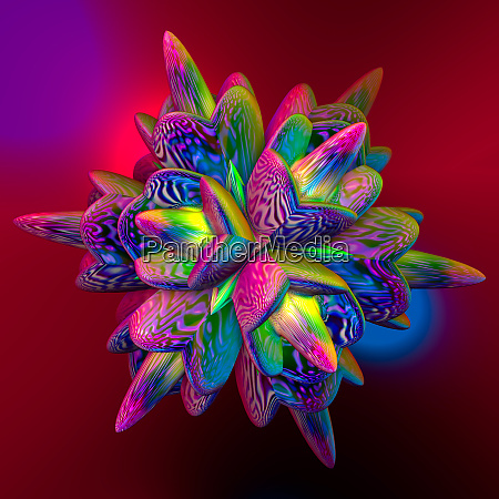 abstrakte, bunte, faraktal, bilder, 3d, rendering - 26589339