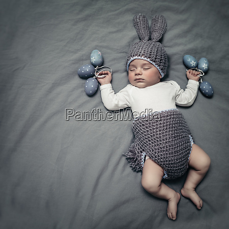 cute little baby dressed like an