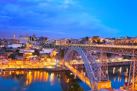 dom luis bridge porto skyline