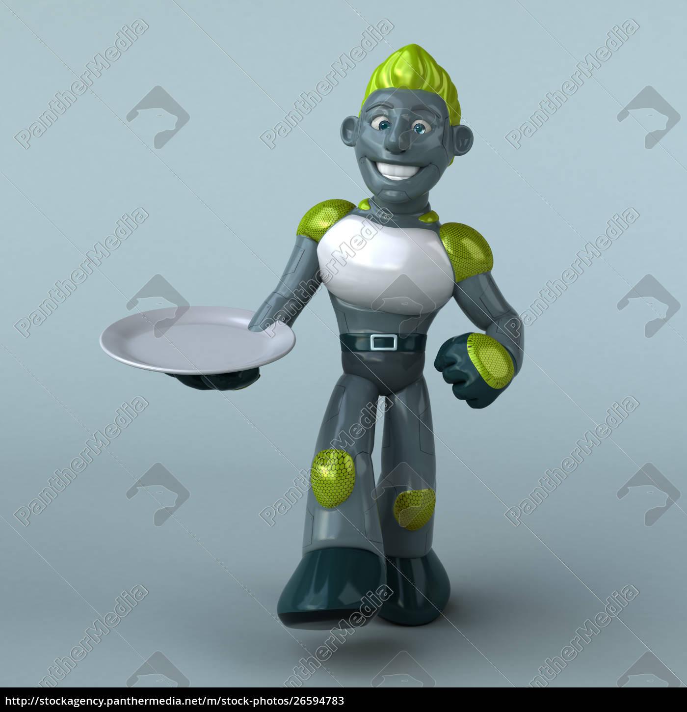 roter, roboter-3d-illustration - 26594783