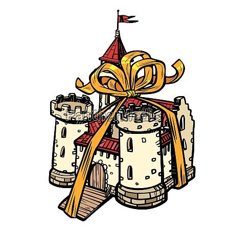 geschenk band mittelalterliche burg fee koenigreich
