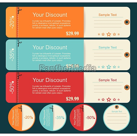 vintage labels template set sale discount