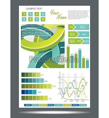 blue and green technological banner with