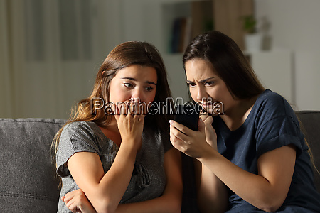 nervous friends waiting online news in