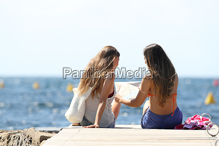 tourists on summer vacations on the
