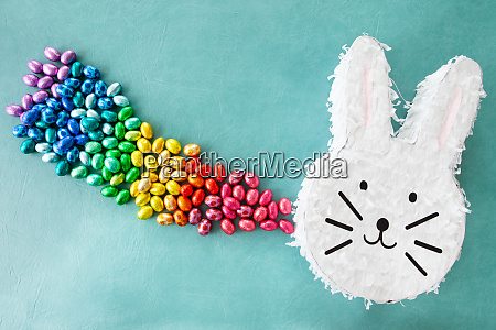 cheerful pinyata with easter eggs