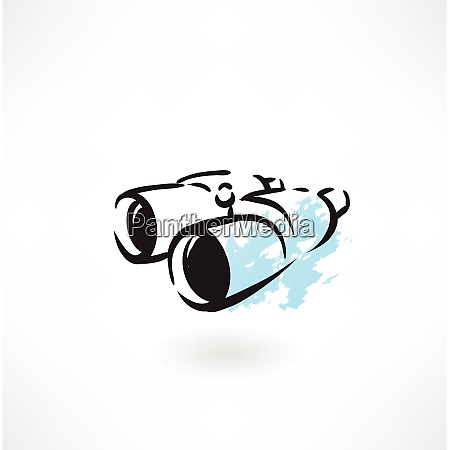 fernglas grunge symbol