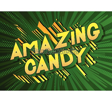 amazing candy comic book style