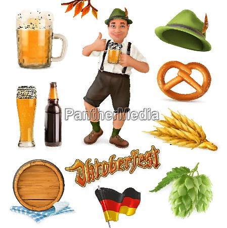 munich beer festival oktoberfest the vector