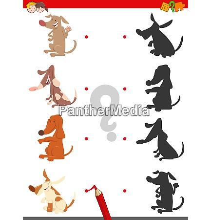 schattenspiel mit cartoon hunden