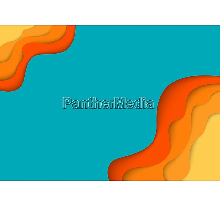 colorful template with abstract paper cut