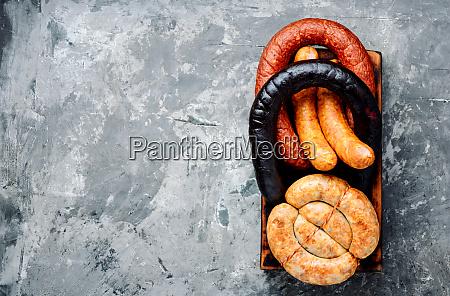 geraeuchertes fleisch und wurst