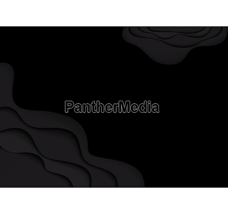 black template with abstract paper cut