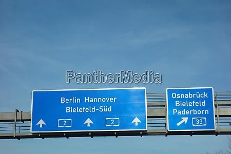 bundesautobahn berlin hannover osnabrueck bielefeld paderborn