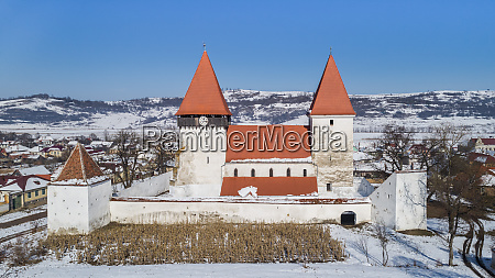 merghindeal fortified church romania