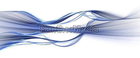 blaue wellen auf weiss