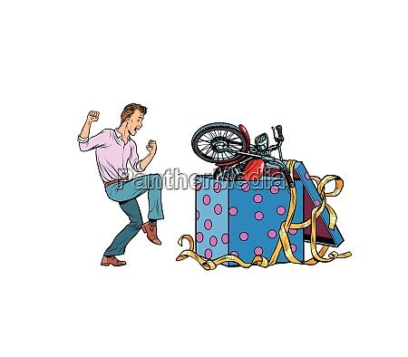 mann und motorrad urlaub geschenk box