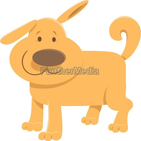 cute beige dog cartoon animal character