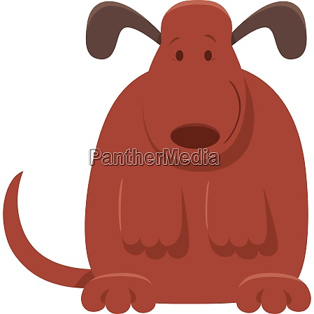 cute brown dog or puppy cartoon