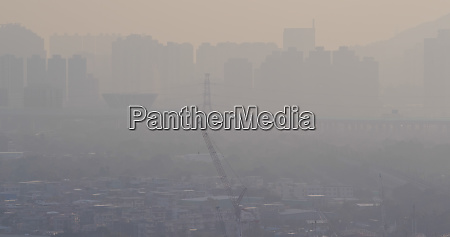 schwere luftverschmutzung in hongkong