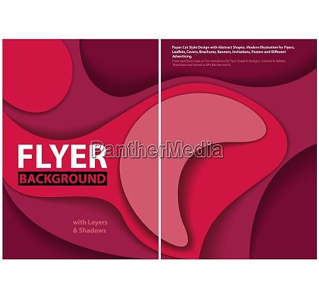 modern flyer paper cut style design