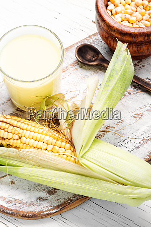 corn milk in glass