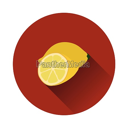 flat design icon of lemon