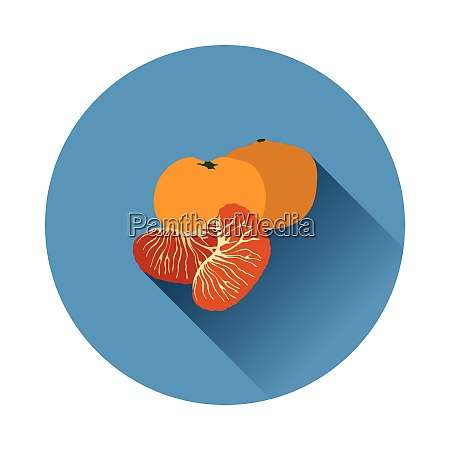 flat design icon of mandarin