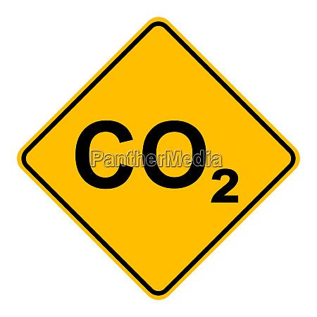 co2 und verkehrszeichen