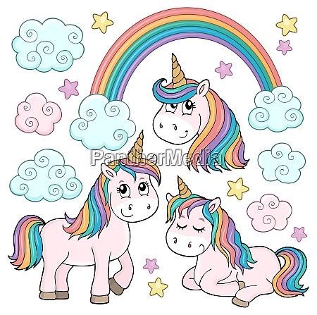 cute unicorns topic set 1
