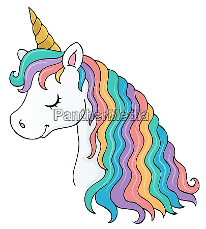 stylized unicorn head theme image 1