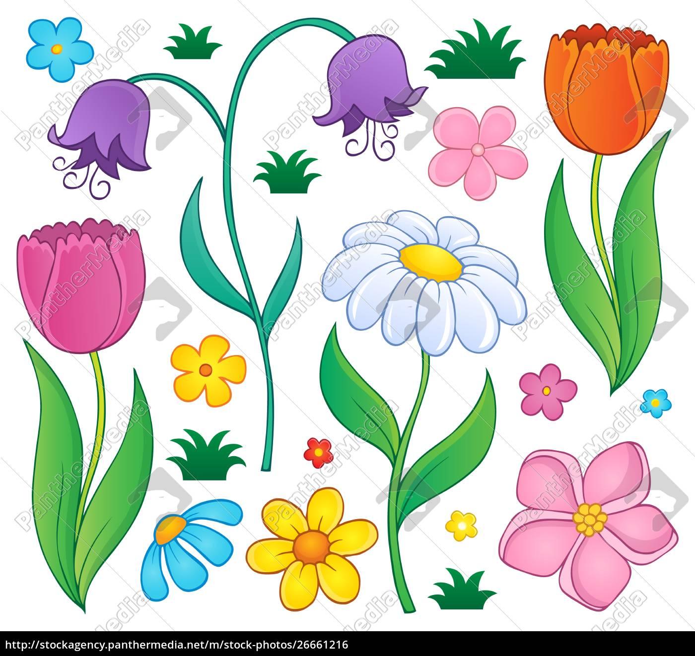 frühlingsblumen, thematisch, satz, 4 - 26661216