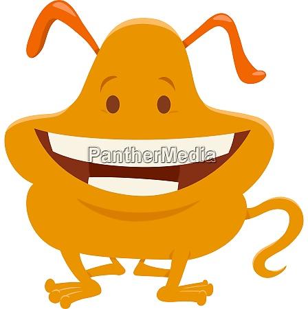 cute orange fantasy cartoon character