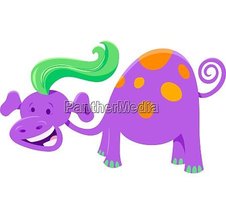 cute purple fantasy cartoon character