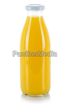 orangensaft trinkflasche isoliert auf weiss