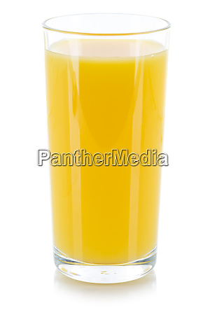 orangensaft getraenk glas isoliert auf weiss
