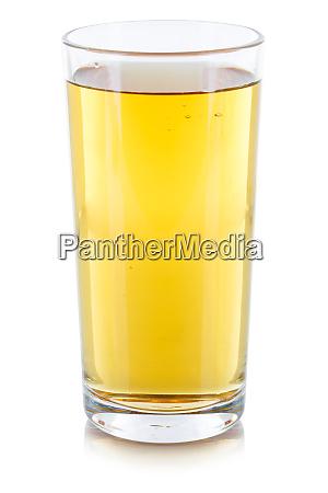 apfelsaft getraenk glas isoliert auf weiss