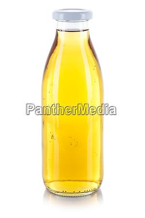 apfelsaft trinkflasche isoliert auf weiss