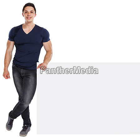 muscular young man copyspace marketing ad