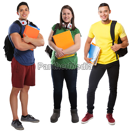students student group of young people